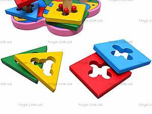 Деревянная пирамидка для детей, MD0335, цена