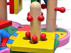 Деревянная пирамидка для детей, MD0335, игрушки