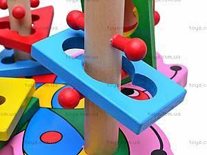 Деревянная пирамидка для детей, MD0335, детские игрушки