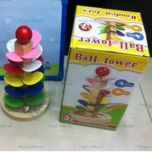 Деревянная пирамидка для деток, 2011-123