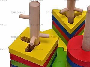 Деревянная пирамидка «Геометрия», W02-5275, купить