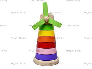 Деревянная пирамидка «Мельница», BT-WT-0096, детские игрушки