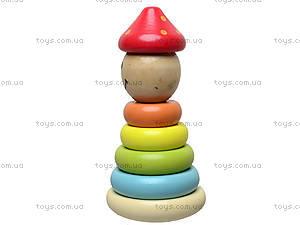 Деревянная пирамидка «Неваляшка», BT-WT-0032, купить