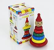 Деревянная пирамидка Клоун, 0 2