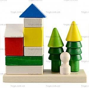 Деревянная пирамидка-конструктор для детей, Ду-24