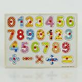 Деревянная рамка с цифрами, знаками, 0430, фото