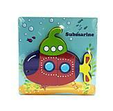 Деревянная рамка с вкладышами-пазлами «Подводная лодка» 5 деталей, С36031