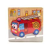 Деревянная рамка с вкладышами-пазлами «Пожарная» 4 детали, С36031, купить