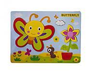 Деревянная рамка - Вкладыш «Бабочка», Р22у-7, отзывы