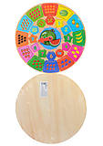 Деревянная рамка-вкладыш для детей «Часы», C29605, фото