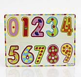 Деревянная рамка - вкладыш «Цифры», 0429, купить