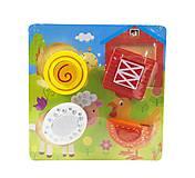 Деревянная рамка-вкладыш для малышей «Ферма», С29532