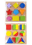 Деревянная рамка-вкладыш для детей «Геометрия», C29639, купить