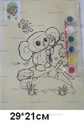 Деревянная раскраска «Чебурашка», CHEB-1167