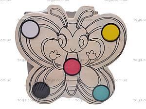 Деревянная раскраска «Палитра», 2594-40, фото