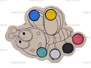 Деревянная раскраска «Палитра», 2594-40, цена