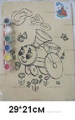 Деревянная раскраска «Паровозик из Ромашкова», TRAIN-1169