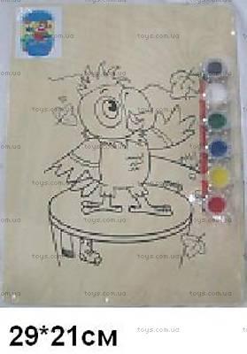 Деревянная раскраска «Попугай Кеша», PRTK-1164
