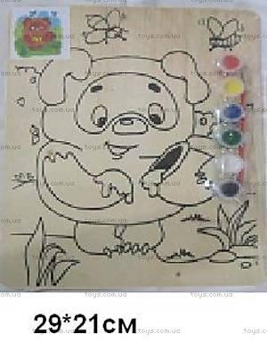Деревянная раскраска «Винни Пух», WNP-1162