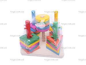 Деревянная развивающая игрушка «Квадрат», 2012-140