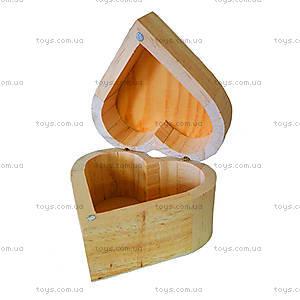 Деревянная шкатулка для украшений «Сердечко», LY1013-110
