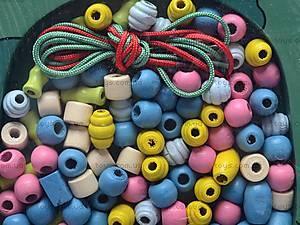 Деревянная шнуровка «Бусики», BT-WT-0074, отзывы