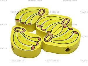 Деревянная шнуровка-бусы, W02-4438, цена