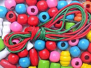 Деревянная шнуровка-бусы «Звери», 2594-22, цена