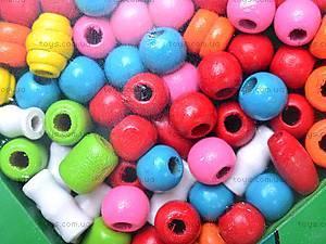 Деревянная шнуровка-бусы «Звери», 2594-22, игрушки