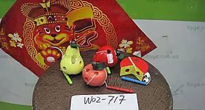 Деревянная шнуровка «Гусеница», W02-717