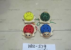 Деревянная шнуровка «Жуки», W02-519