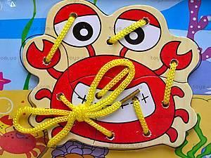 Деревянная шнуровка-пазл, 2594-18, фото