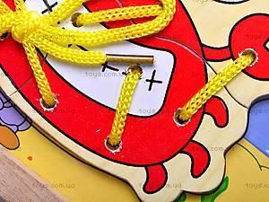 Деревянная шнуровка-пазл, 2594-18, отзывы