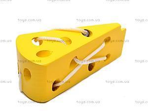 Деревянная шнуровка «Сыр», MD0494, фото