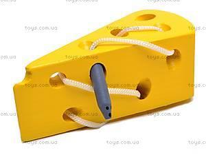 Деревянная шнуровка «Сыр», MD0494
