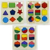 Деревянная сортерная геометрика, 0364, фото