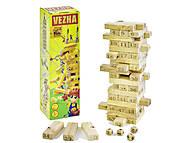 Деревянная игра «Башня» FUN GAME, 7358, фото