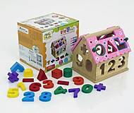Деревянная игра для малышей «Дом-Логика», 0563, купить