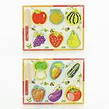 Деревянная игра «Досточка с овощами и ножом», 0448, фото