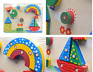Деревянная игра «Картина - сортер», 0345, детские игрушки