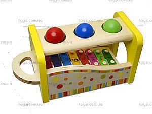 Ксилофон с молоточком и шариками, 0519, купить