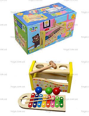 Ксилофон с молоточком и шариками, 0519