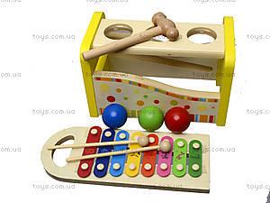 Ксилофон с молоточком и шариками, 0519, отзывы