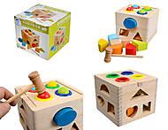 Логический деревянный куб, 0409, купить
