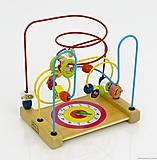 Деревянная игра «Лабиринт» с часами, 0585, фото
