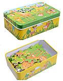 Детская игра «Пазлы» в железной коробке, 0530, оптом
