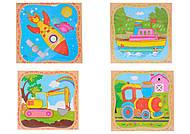 Пазлы детские, 6 видов, 555-217, фото