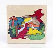 Деревянная игра «Пазлы - Динозавры», 0377