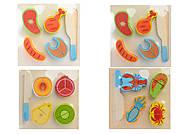 Деревянная игра «Продукты на липучках», 4 вида, С30326
