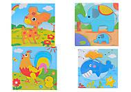 Деревянная игра рамка-вкладыш «Животные», С30343, купить